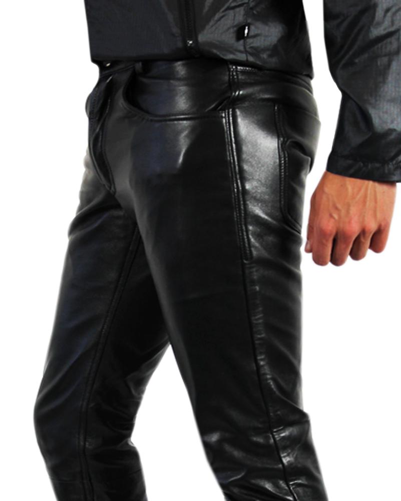 bockle tube lamb leather jeans mens leather pants. Black Bedroom Furniture Sets. Home Design Ideas
