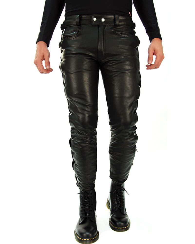schn rlederhose lederjeans schn rung lederhose leder jeans. Black Bedroom Furniture Sets. Home Design Ideas