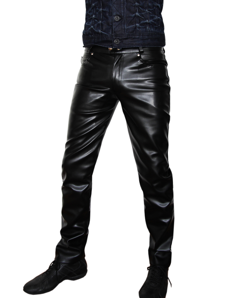 new bockle mens jeans faux leather pants look black pant. Black Bedroom Furniture Sets. Home Design Ideas