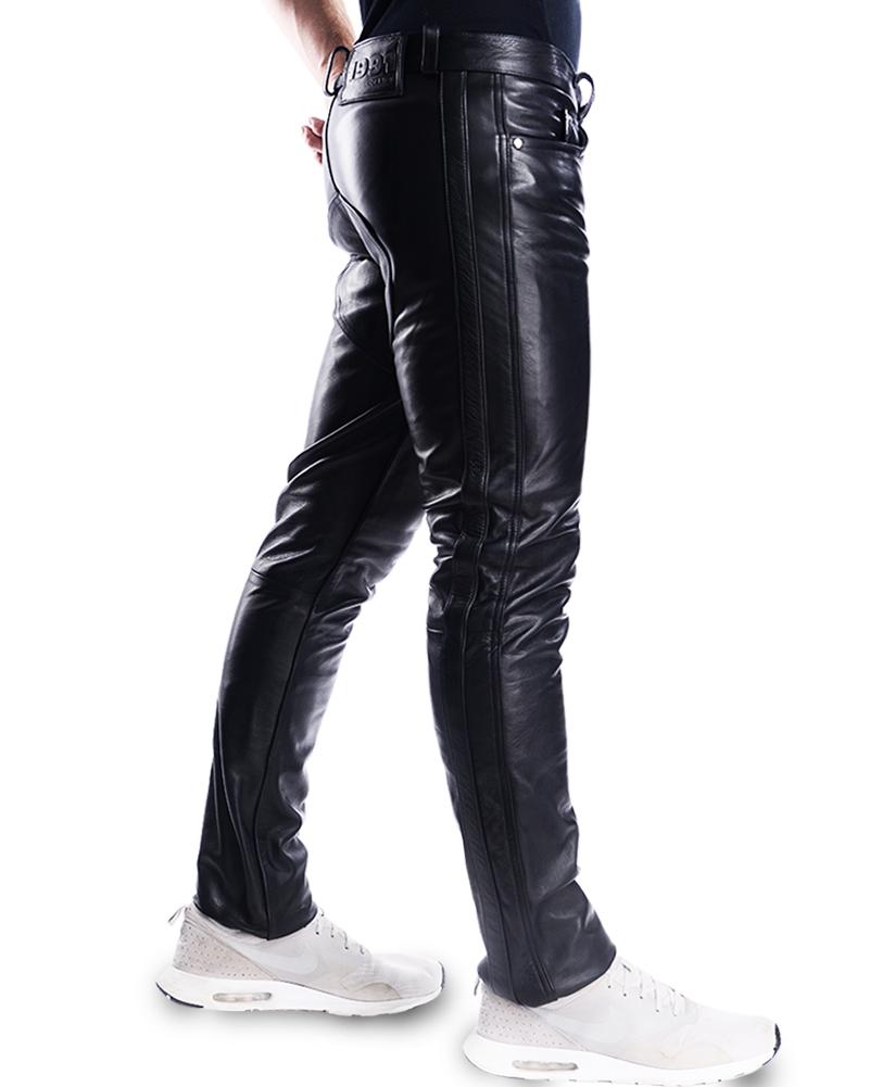 bockle saddle lederjeans herren lederhose leder jeans neu biker schwarz ebay. Black Bedroom Furniture Sets. Home Design Ideas