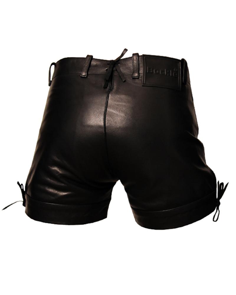 bockle pants kurze schwarze gay herren lederhose shorts. Black Bedroom Furniture Sets. Home Design Ideas